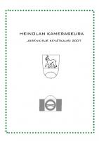Jäsenkirje 2007